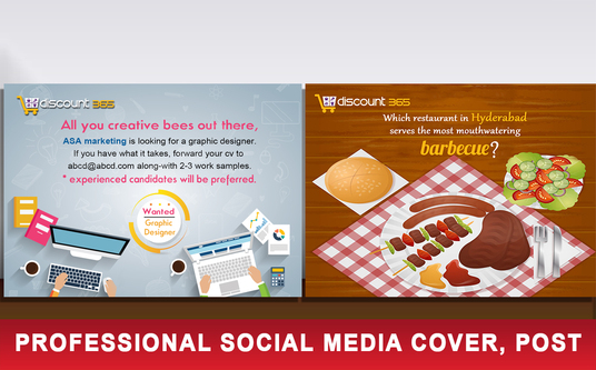 I will Design Social media Profile Picture, Ad, cover, post for facebook , Twitter, snap chat, et