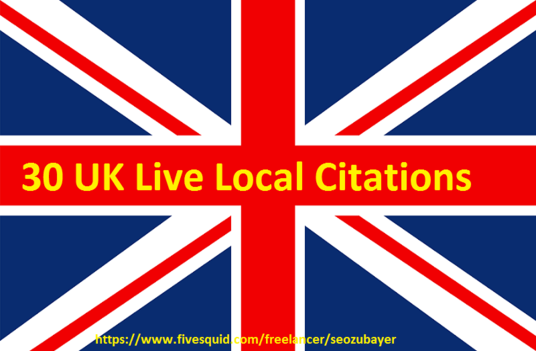 do 30 UK local citation to improve your local business