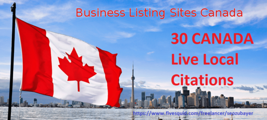 do 30 Live Canada Local Citations for your local business