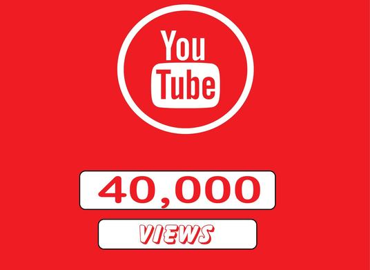 I will Give You High Quality 40,000+YOUTUBE views