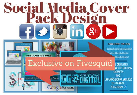I will create an outstanding social media 6 in 1 cover pack for your business