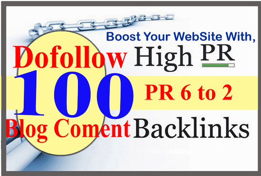 I will  build 100 Dofollow Blog Comment Backlinks Pr 6 to 2