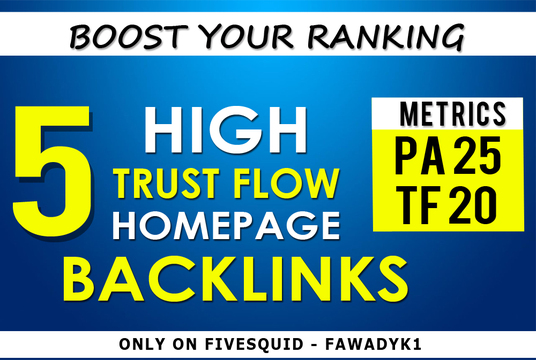 Build 5 High Trust Flow Home Page PBN Backlinks