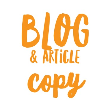 write your blog or article copy