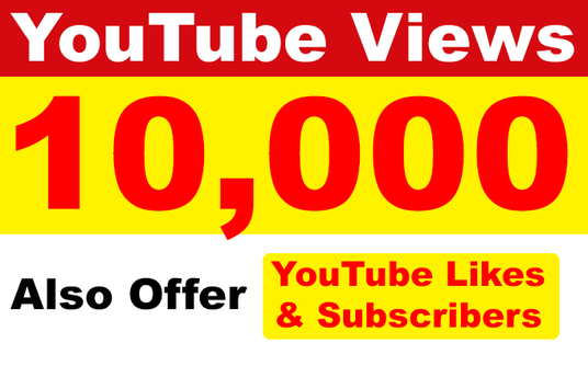 I will add 10000 High Retention Permanent YouTube Views