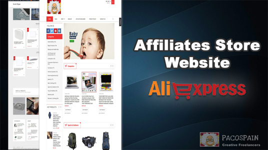 I will create professional Aliexpress affiliate store
