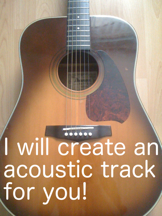 I will compose an acoustic track for you