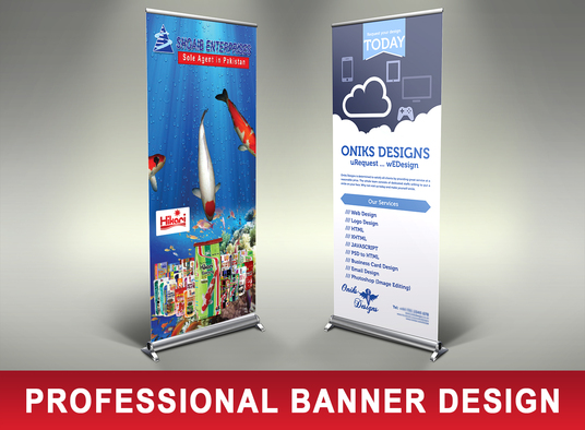 I will design Roll up banners for Digital Printing
