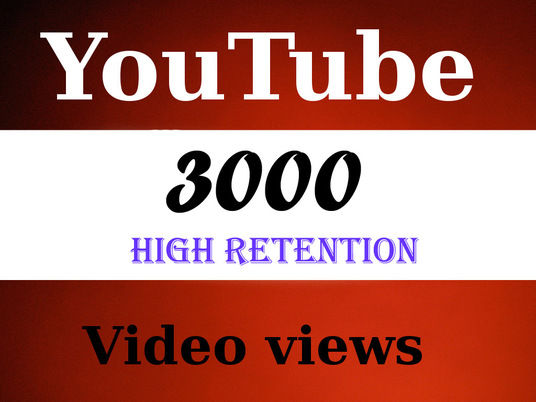 I will add 3000+ High Quality Youtube views