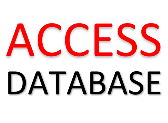 I will create a Microsoft Access database of your choice