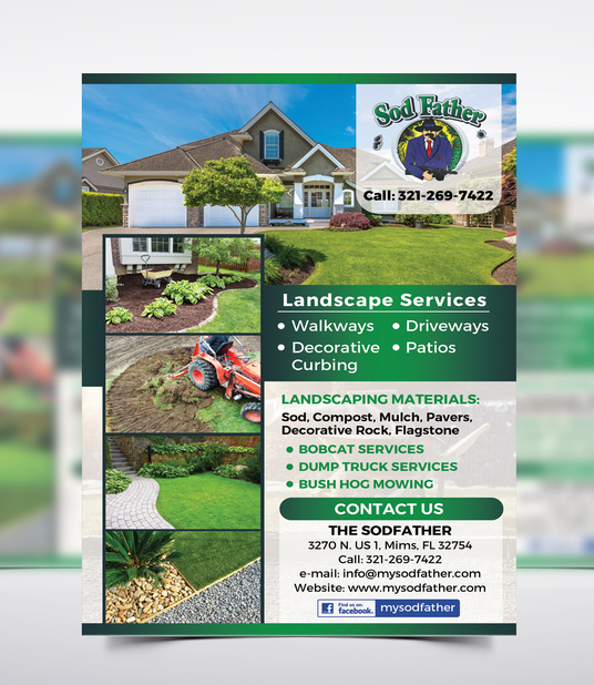 I will design fresh looking Gardening or Landscape service flyer or brochure in 24 hours