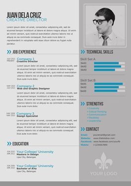 create a modern contemporary style cv that will make you stand out