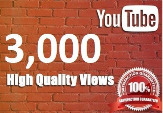 I will give 3000 HQ views to your Youtube Video