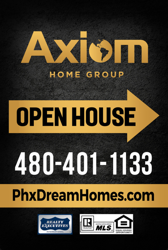I will design OPEN HOUSE or JUST LISTED yard sign or banner with in 24 hours