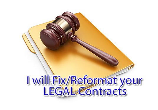 I will format any Legal or Non Legal Document
