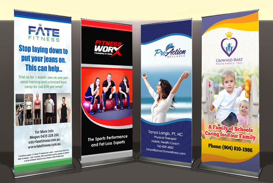 I will design Eye-catching Roll up or Standee or Pop up banner in 24 hours