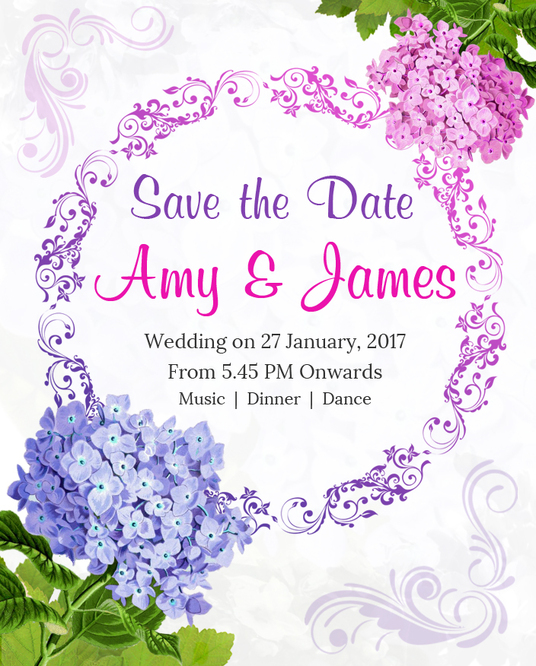 I will design beautiful wedding invitation in 24 hours