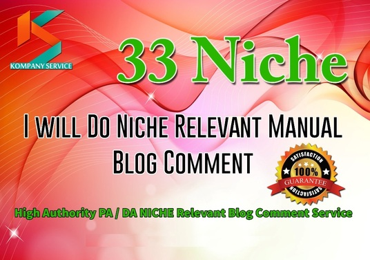 I will Provide 33 Niche Relevant Blog Comment Quality Work