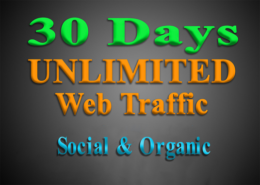 I will UNLIMITED organic & social WEB TRAFFIC