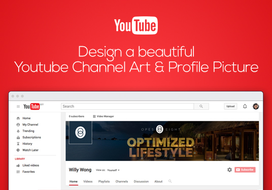 I will design a beautiful Youtube channel art and profile picture