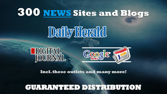 I will submit your Press Release to 300 news & Blog sites, like Daily Herald, Digital Jou