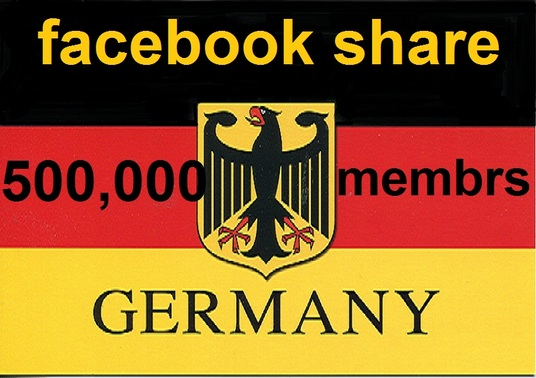 I will promote your Link to 500,000 GERMANY Facebook groups Members
