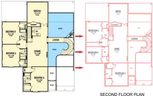 design Autocad floor plan out of your image or sketch