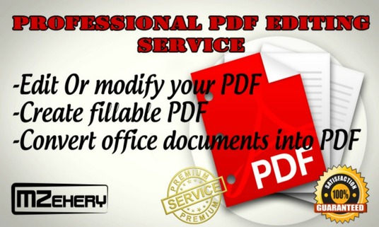I will edit Pdf or create fillable pdf forms