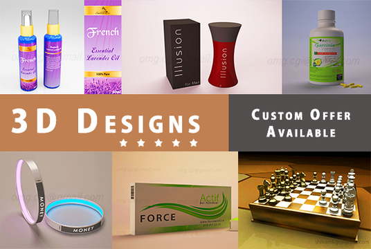 I will design 3D Model and Mockup with HD Quality Rendering