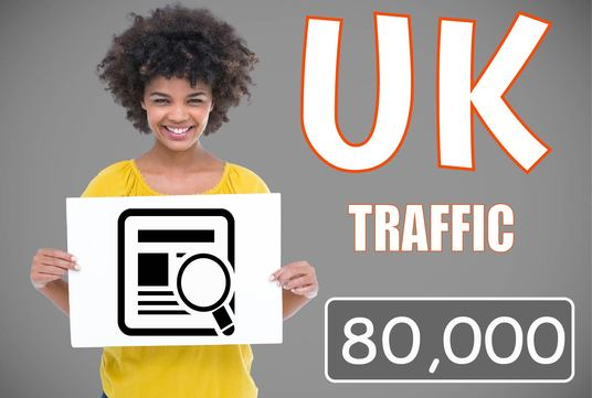 I will 80,000 (UK) Traffic to your site