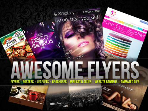 design professional flyer, poster and banner