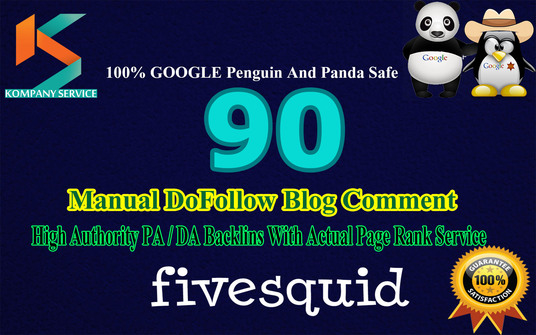 I will  Provide 90 DoFollow BackLinks Manually on High Authority Domain
