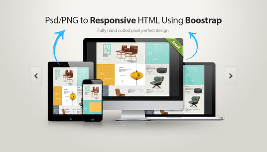 I will Convert your PSD/PNG to responsive HTML5/CSS3 using Bootstrap