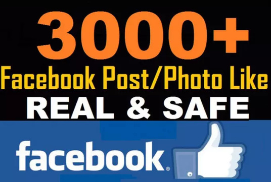 I will  do real profile  3000+ Facebook photo or post likes
