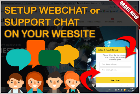 I will setup a WEBCHAT or SUPPORT CHAT on your website