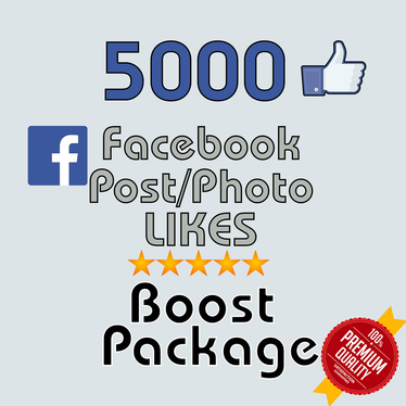 add 5K Facebook post likes or 400 Fan page
