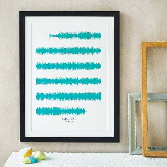 I will create a personalised soundwave print of your favourite song.