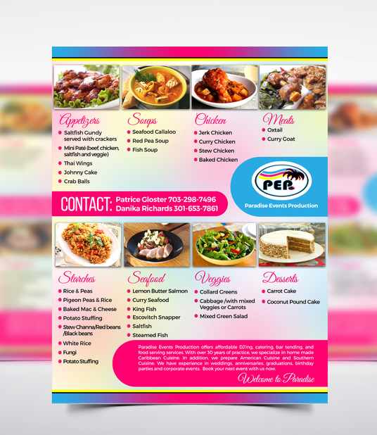 I will design beautiful Restaurant Menu or Poster or Banner design in 48 hours