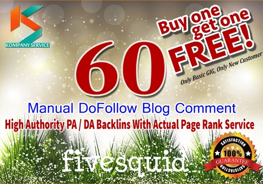 I will create manually 60 high pa and da blog comment backlinks