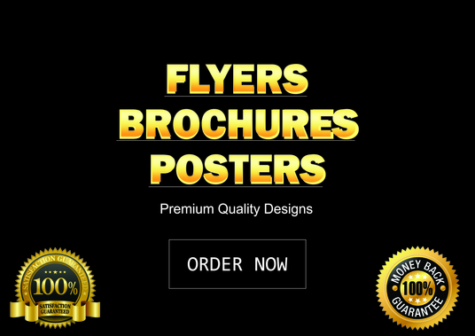 I will do 2 Eye Catching Designs of flyer, poster, brochure,cover,