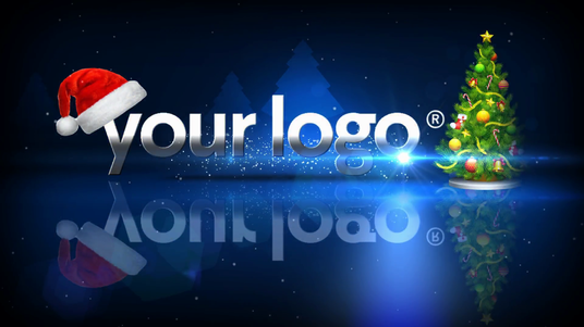 make this Christmas  Intro video for your Logo