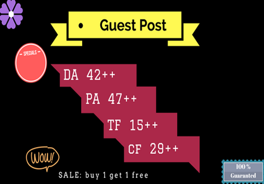 I will do guest post on DA 42 + website with PA 47+