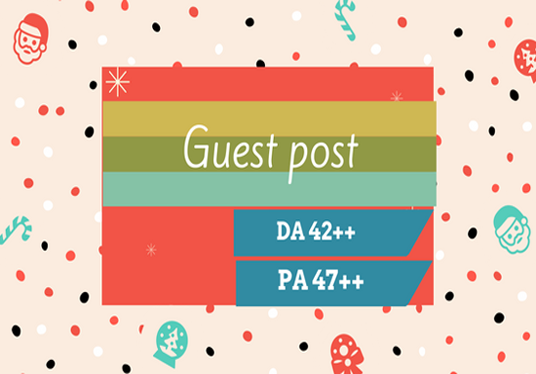 I will publish guest post on DA 42++ website