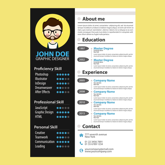 I will modern contemporary style cv that will make you stand out