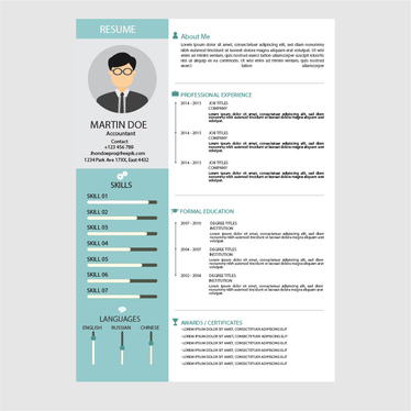 modern contemporary style cv that will make you stand out