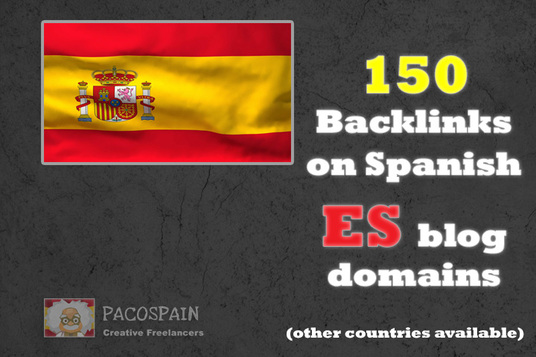 I will create 150 backlinks on Spanish ES blog domains (other countries available)