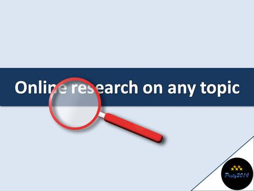 do online research on any topic