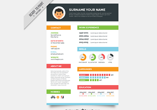 I will create a stunning resume template for you