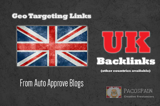 I will create 150 backlinks on CO UK blog domains (other countries available)