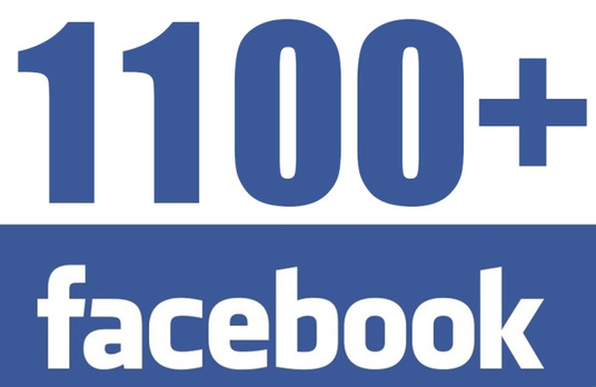 I will add 1100+ Real Facebook Fan Page Likes